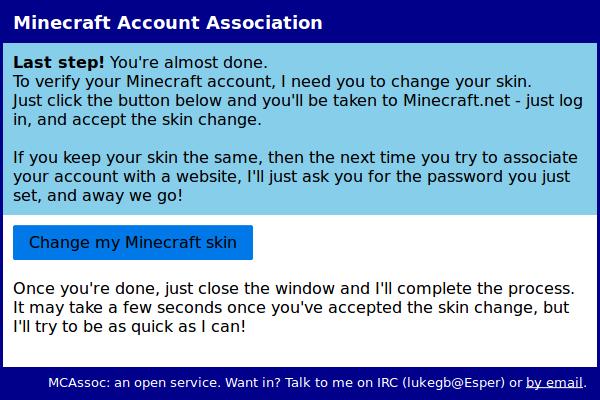 Minecraft Account Association